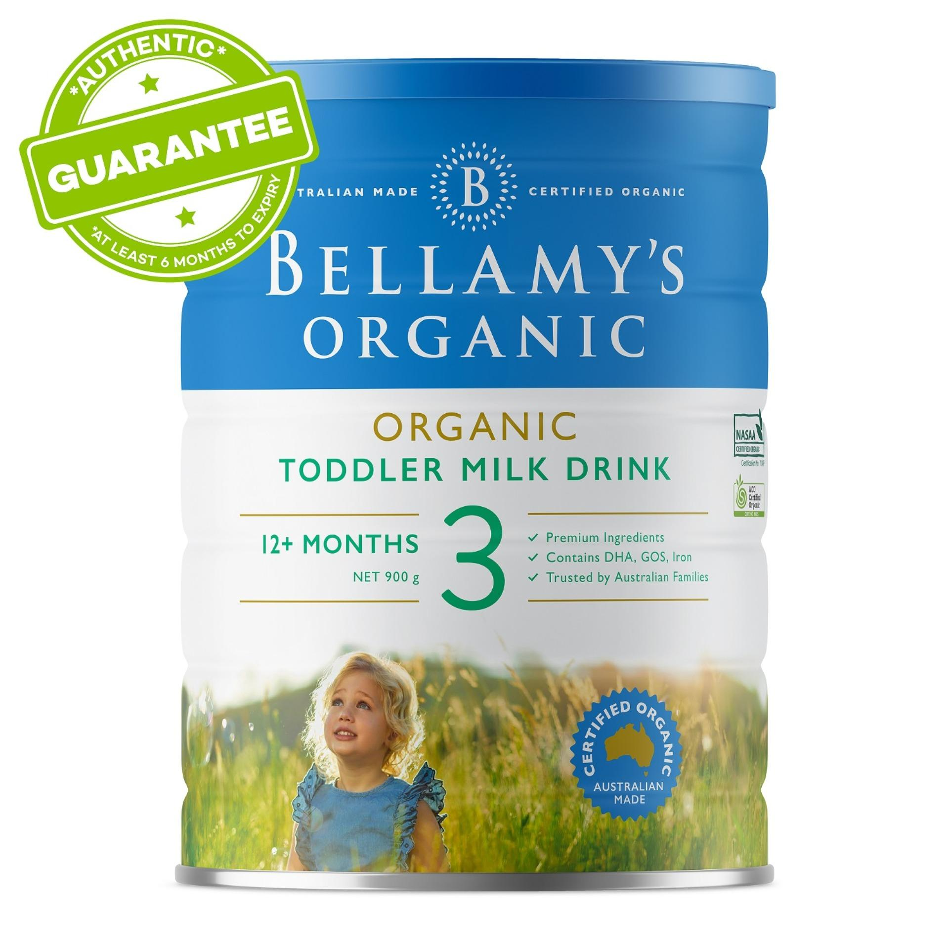 Bellamys Organic Step 3 Toddler Milk Drink 900g (12months+) By Lazada Retail Bellamys Organic
