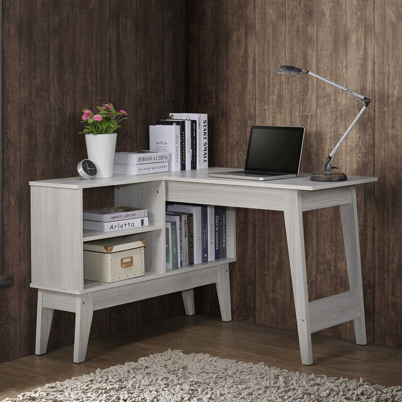 L-Shaped Computer Corner Desk (Free Installation + Delivery) Study Table Home Office Drawer Laptop ⭐ E-LIVING Furniture