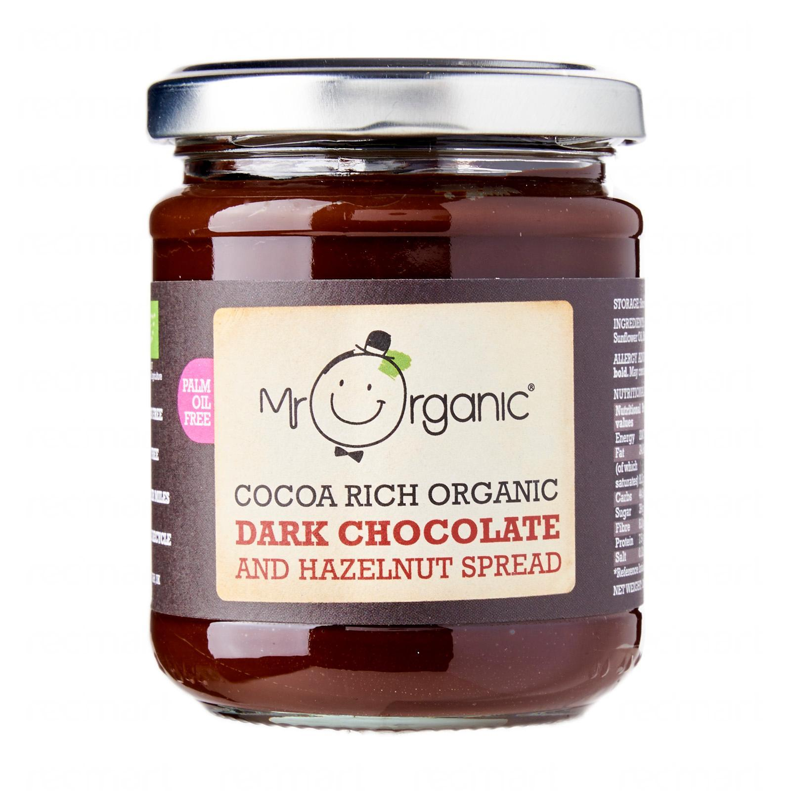Mr Organic Dark Chocolate And Hazelnut Spread