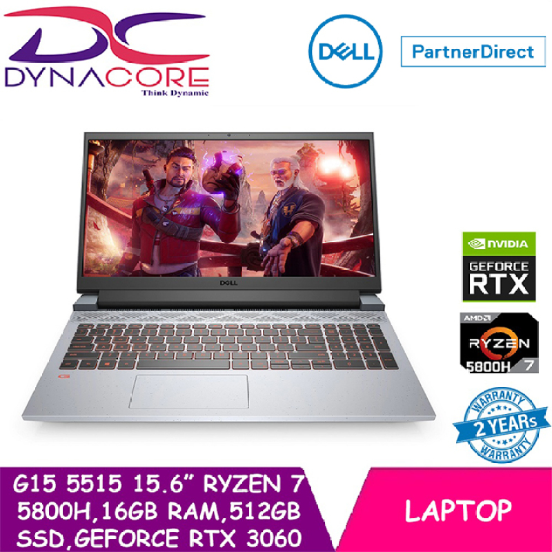 DYNACORE - Dell G15 5515 Ryzen Edition Phantom Grey with speckles (Ryzen 7 5800H   16GB RAM   512GB SSD   GEFORCE RTX 3060   15.6 FHD   WIN 10 HOME) 2 YEARS WARRANTY