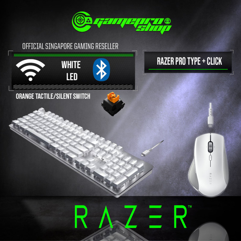Razer Pro Type+Click Wireless Keyboard And Mouse-(2Y) Singapore