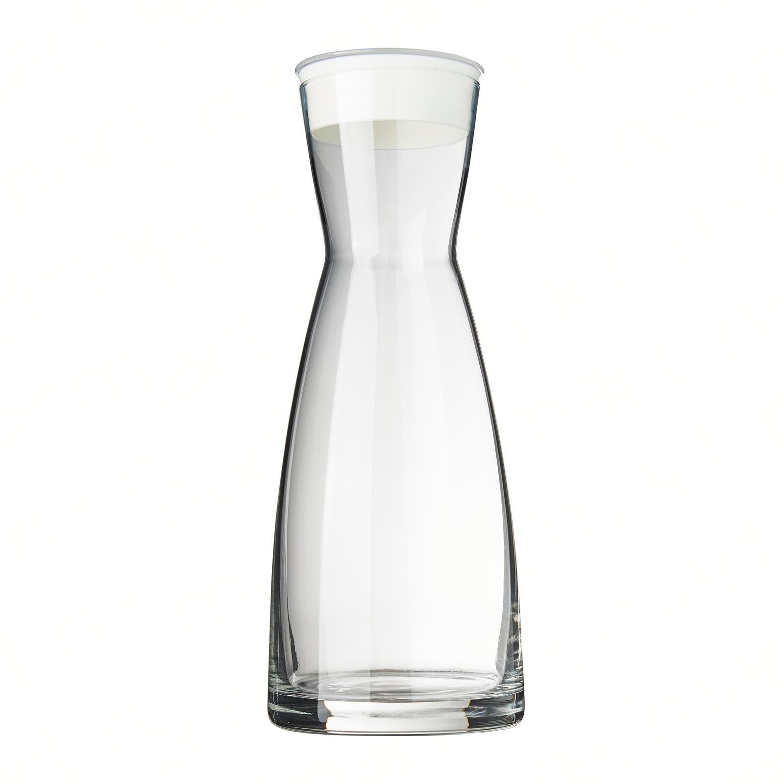 Bormioli Rocco Ypsilon Water Jug Glass Carafe Decanter - White Lid