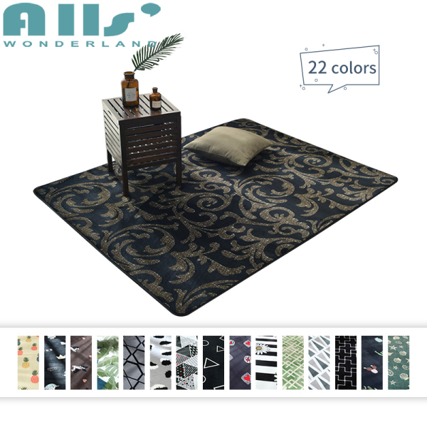 Carpet 145X190cm Rectangle Floor Mat Patterned Printed Carpet Anti-mite Game Carpet For Bed Room