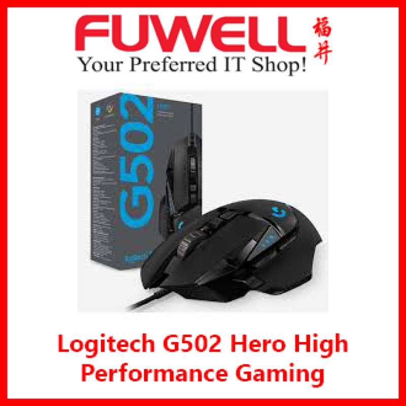 LOGITECH G502 HERO Performance RGB Gaming Mouse (910-005472)  [2YRS]