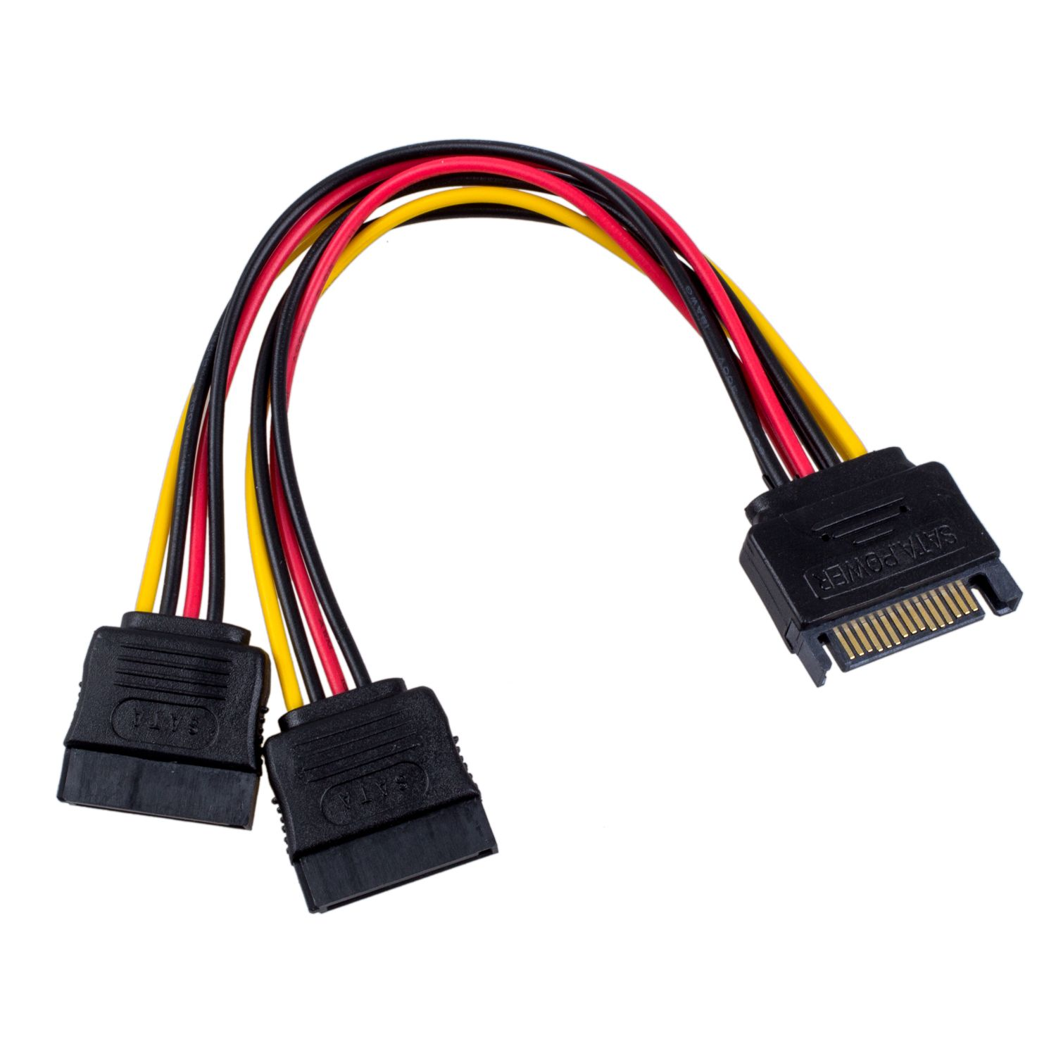 SATA male power connector to Y SATA female power cable
