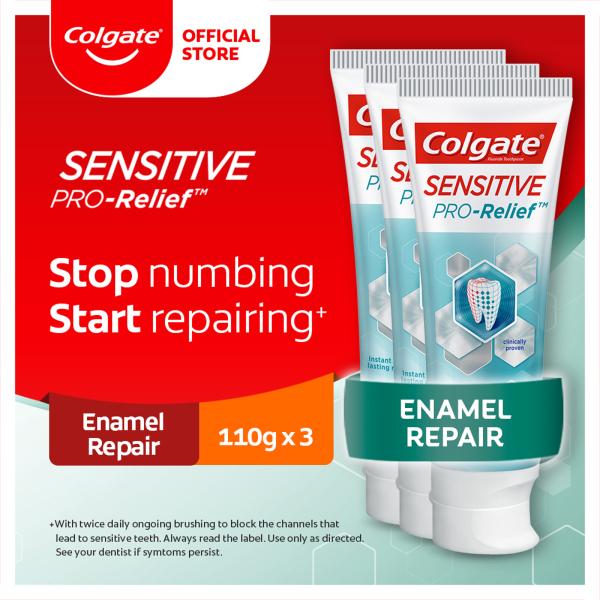 Buy Colgate Sensitive Pro Relief Enamel Repair Toothpaste 110g [Bundle of 3] Value Deal (1539356-3) Singapore