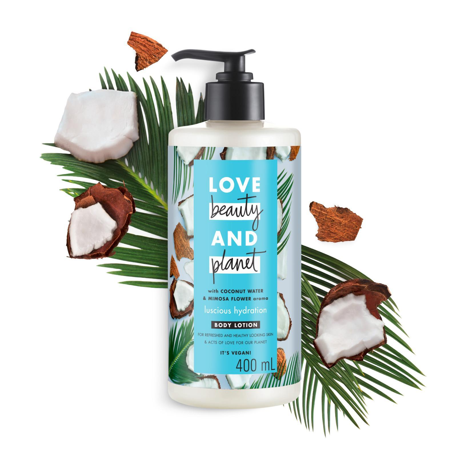 Love Beauty & Planet Vegan Body Lotion Coconut Water and Mimosa Flower Luscious Hydration