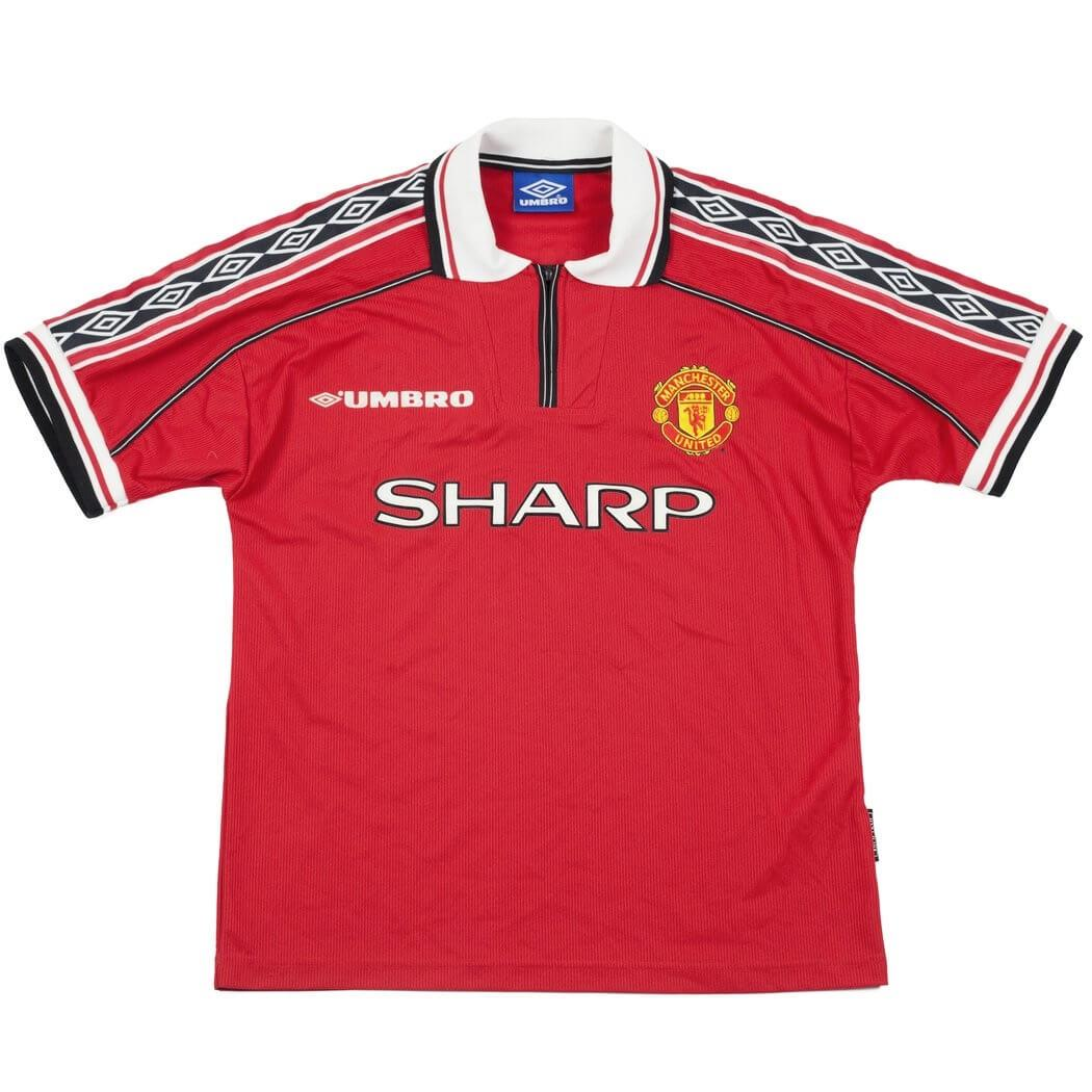 55f6bddb1 Brand New Manchester United Umbro 1998 Home Retro Football Jersey Import  From UK