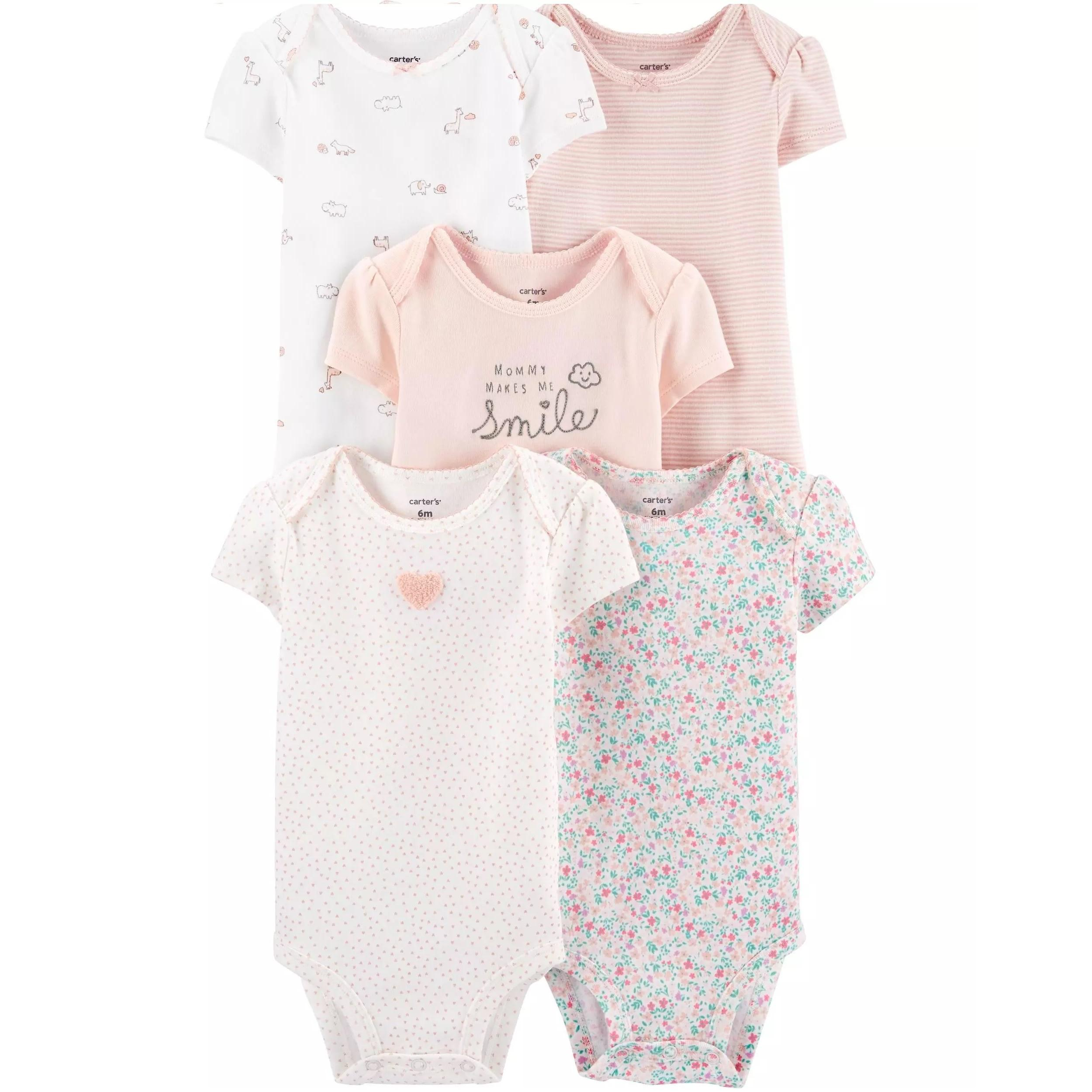 Cagl214 Carter S Baby Girls 5 Pack Floral Original Bodysuits