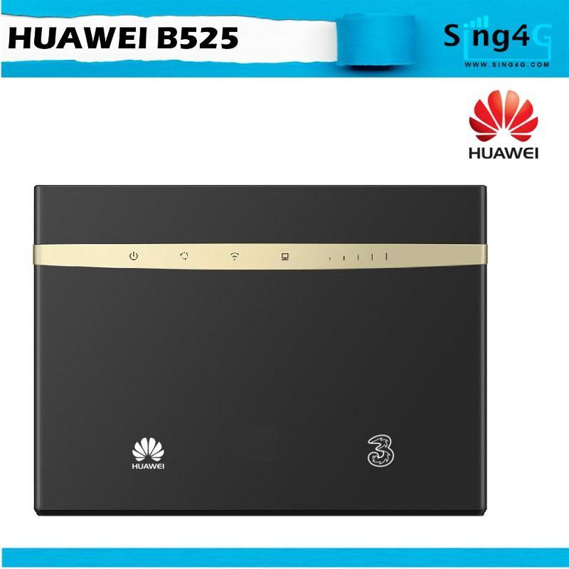 Huawei B525 Cat6 4G LTE SIM Card Router 4 LAN 64 WIFI SHARE
