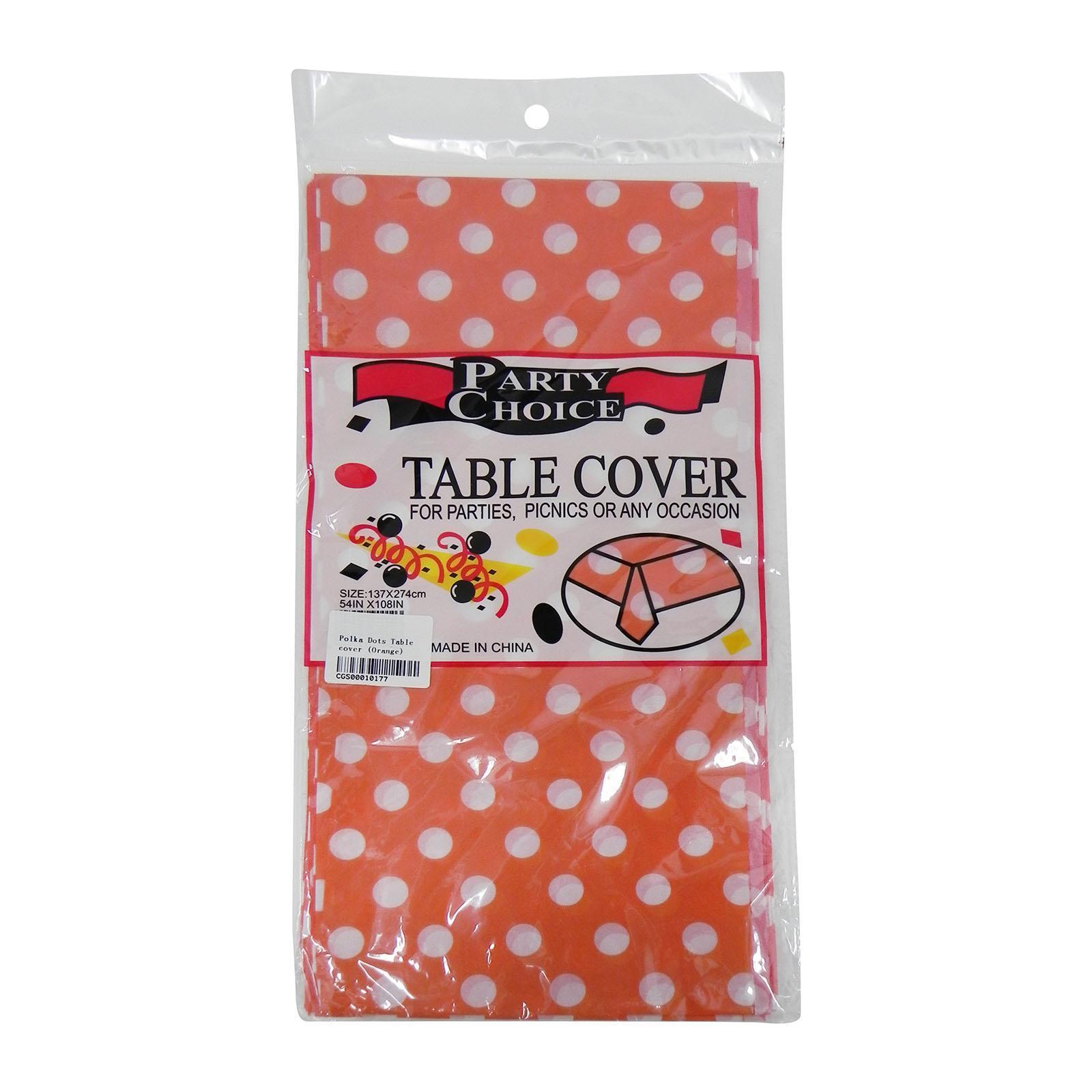 CGS Polka Dots Tablecover (Orange)