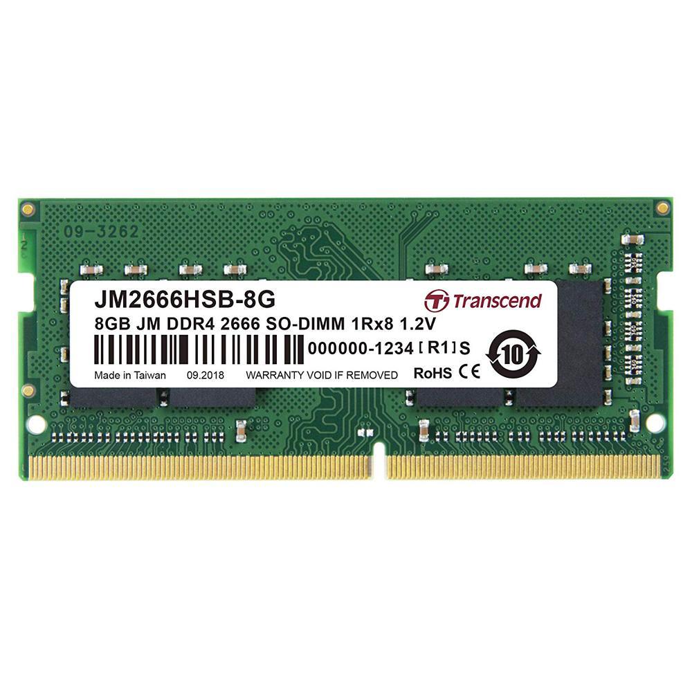 Transcend JM2666HSB-8G 8GB JM DDR4 2666Mhz SO-DIMM 1Rx8 RAM