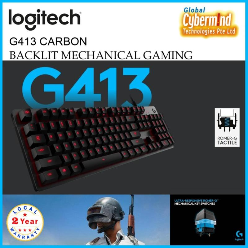 Logitech G413 CARBON BACKLIT MECHANICAL GAMING KEYBOARD with Romer-G Tactile Switch Singapore