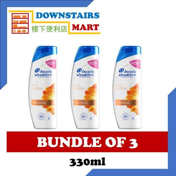 Buy [Bundle of 3] Head & Shoulders Anti-Hairfall Shampoo 330ml x 3 Singapore
