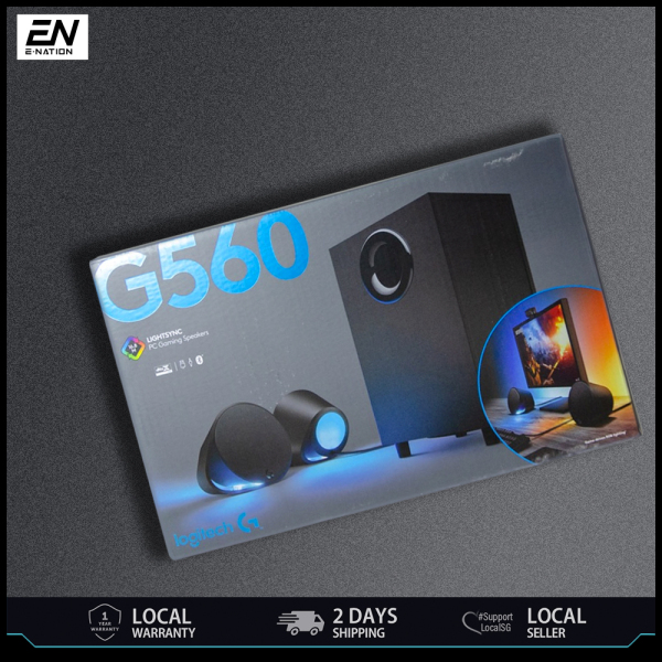 Logitech G560 Lightsync PC Gaming Speaker (Ready Stock Ship Out in 24 Hours)