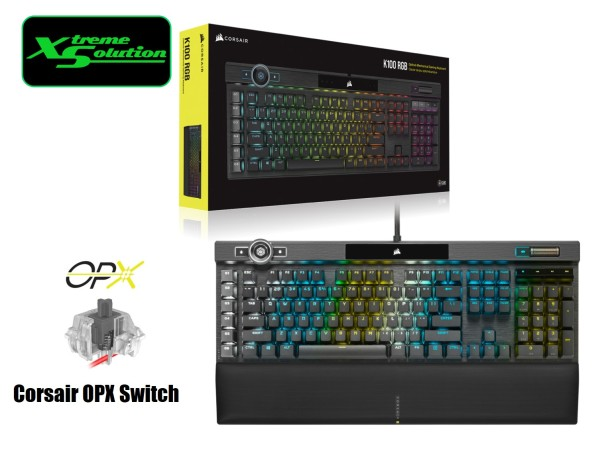 Corsair K100 RGB Mechanical Gaming Keyboard (Cherry Mx Speed / Corsair OPX Switch) Singapore