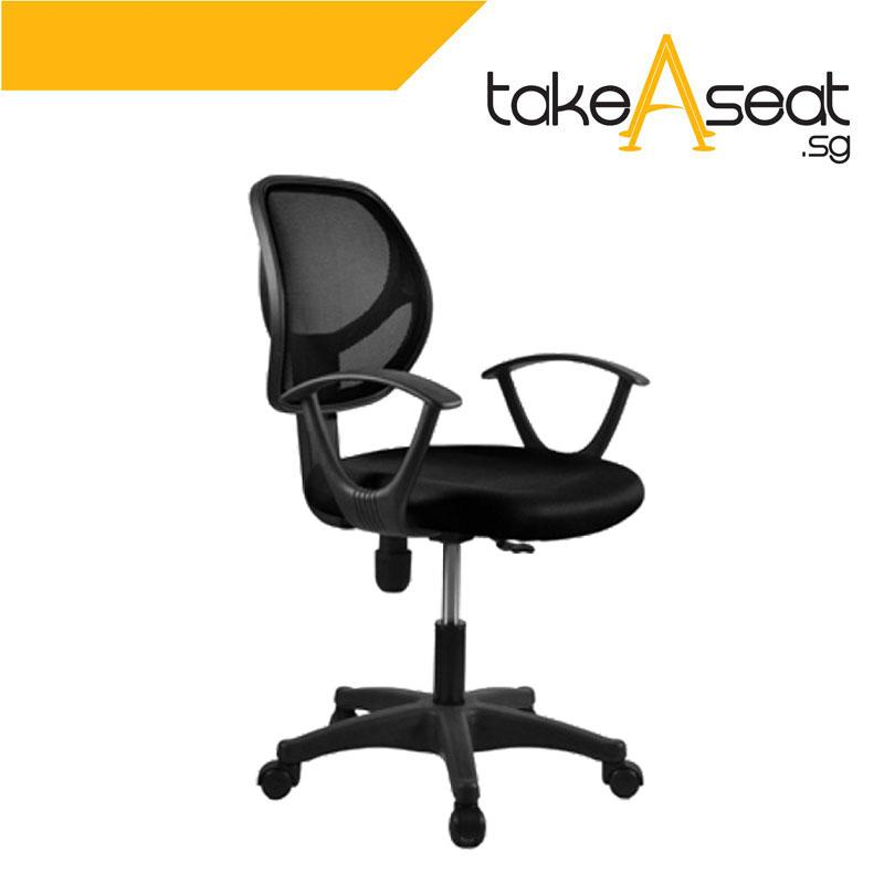 S02 Rein Office Chair (Black)(Self Setup) Singapore