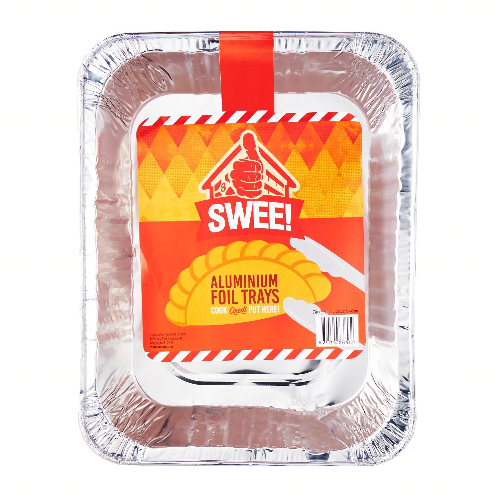 Swee! Aluminium Foil Tray (3 Piece Pack) - 32CM X 26.5CM