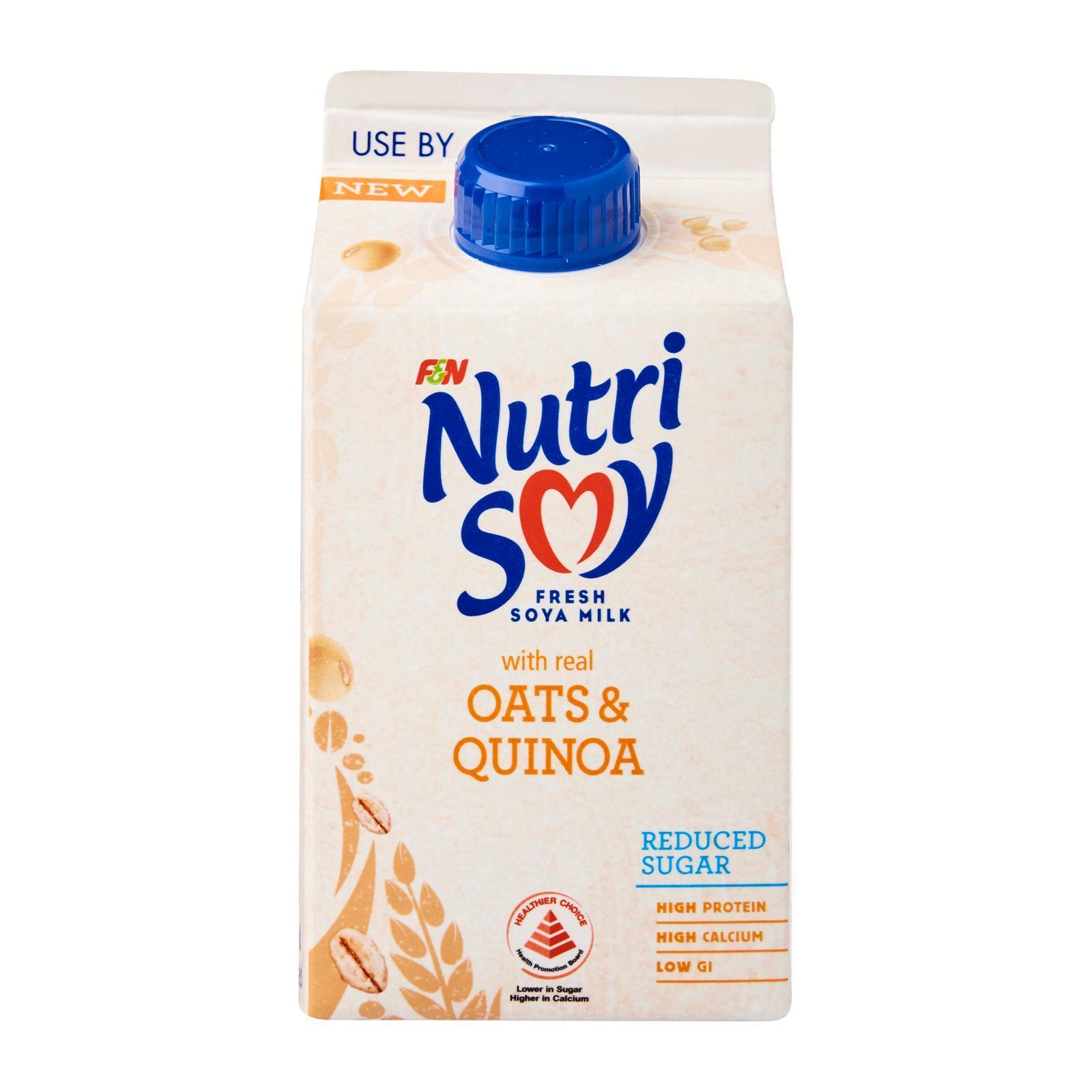 NUTRISOY Fresh Soya Milk Hi-Cal Reduced Sugar 475ml