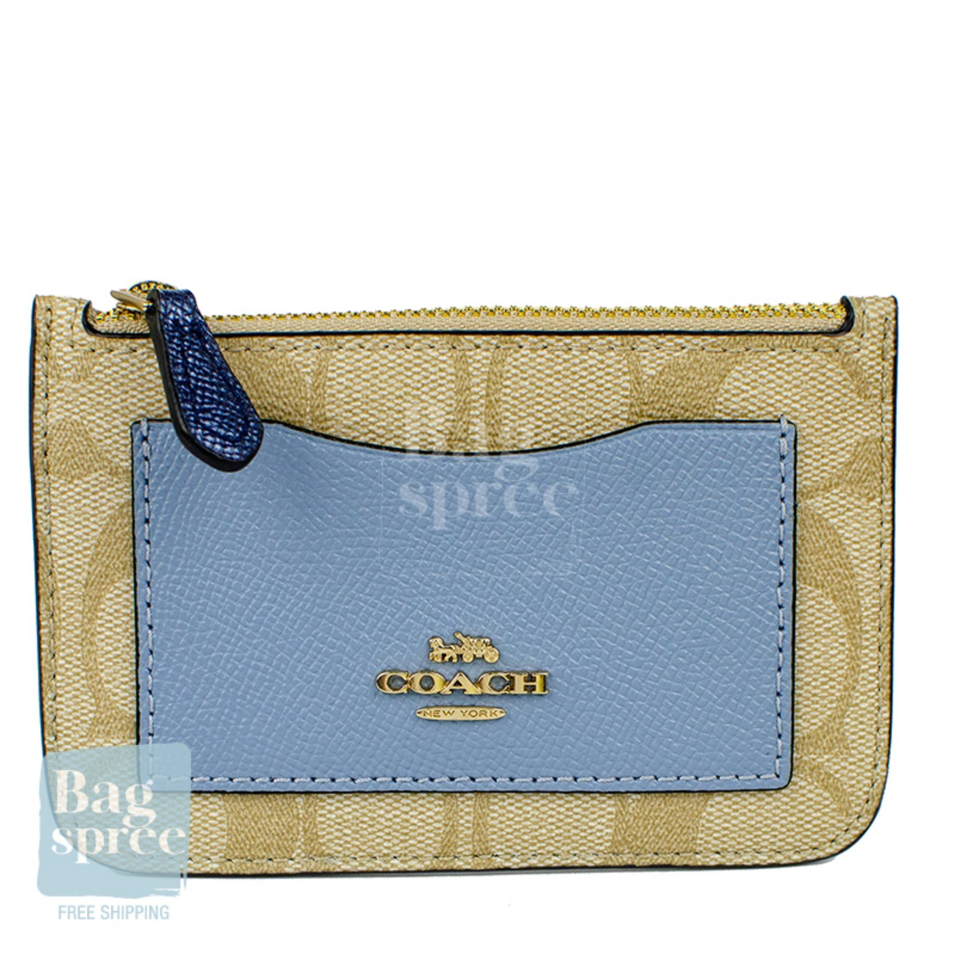 035f98f2 *Authentic & Brand New* Coach Zip Top Card Case In Colourblock Signature  Canvas F67545 IMABT [Gift Receipt Provided]