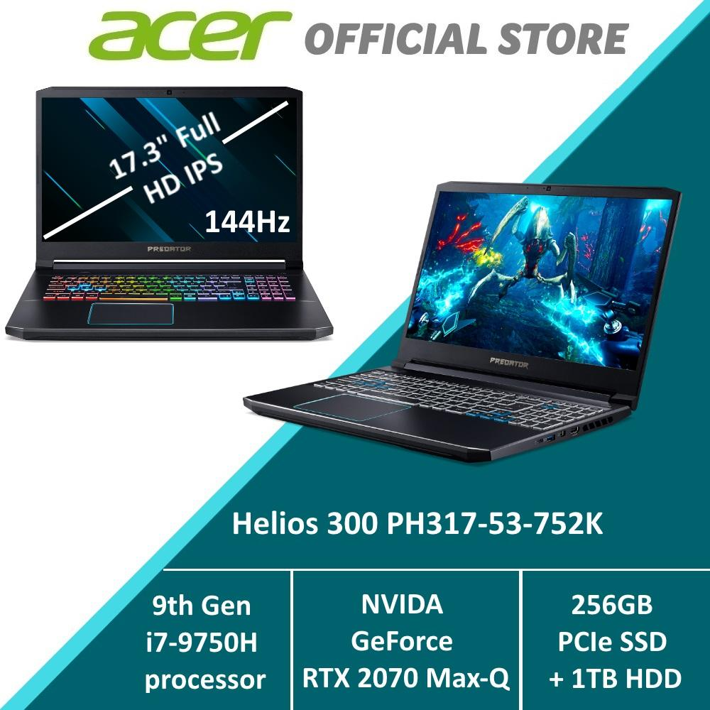 Predator Helios 300 PH317-53-752K Gaming Laptop - RTX 2070 Max-Q Graphics