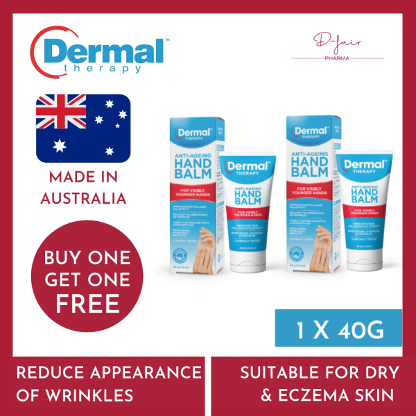Buy BUY 1 GET 1 FREE Dermal Therapy Anti Ageing Hand Balm 40G | D-fair Pharma Singapore