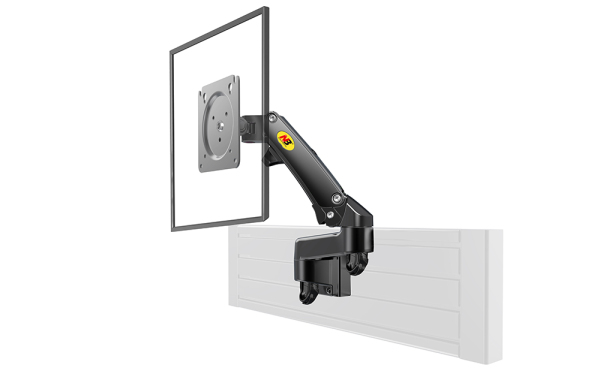 M150 Monitor Bracket / Single Arm / Partition Rail Mount / Monitor Mount / Office Partition Rail Mount / Wall Mount / Full Swivel