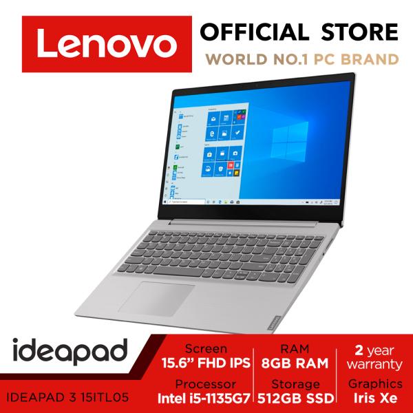 Lenovo IdeaPad 3 15ITL05 | 81X8002VSB | 15.6 FHD | i5-1135G7 | 8GB | 512GB | Iris Xe | 2Y WARRANTY