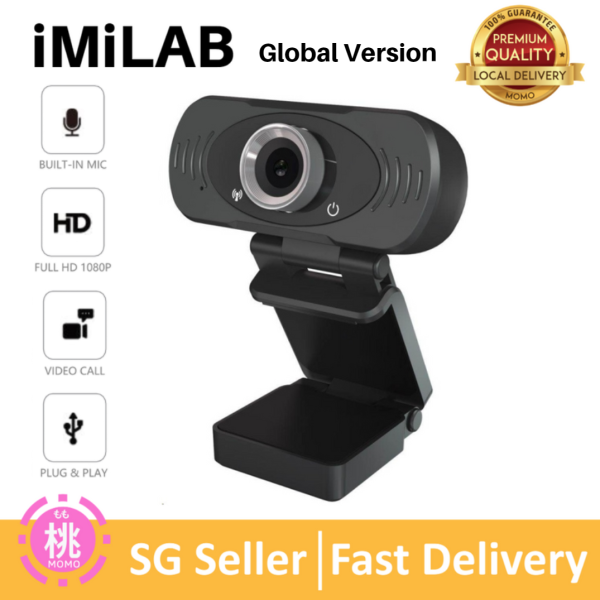 Xiaomi WebCam PC Mi IMILAB WebCam Global Version Full HD 1080P Video Call Web Cam With Mic Plug and Play USB Laptop Notebook Monitor Web Camera