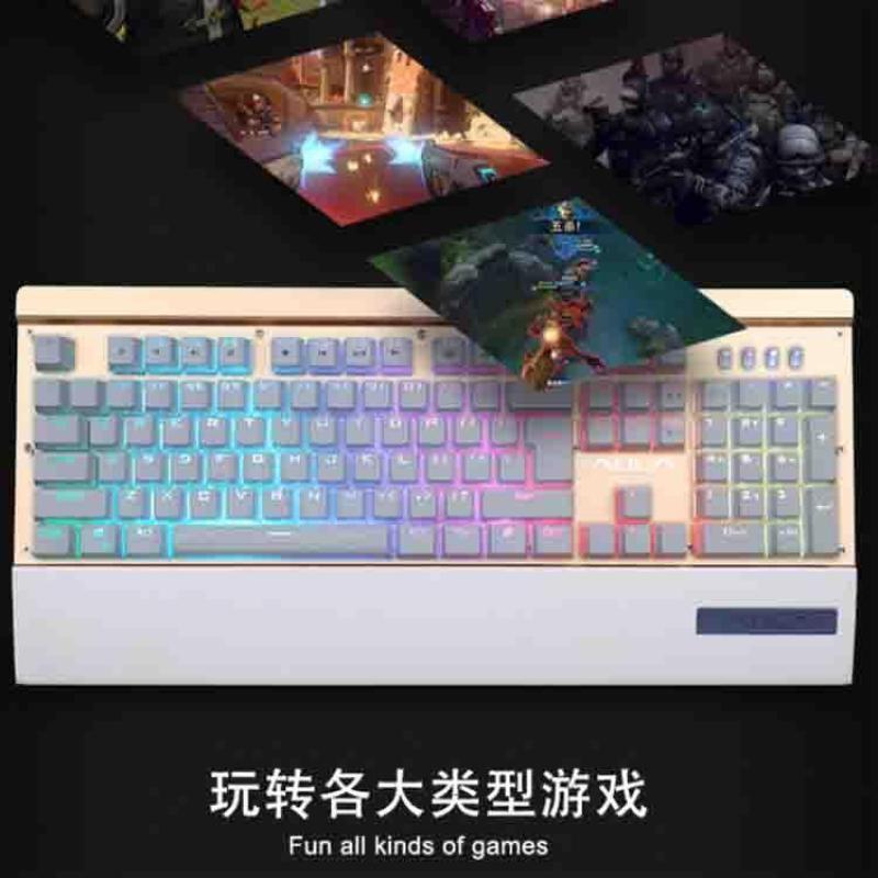 Invaders 2026 Sevev Colours Backlight Keyclick Machinery Game Suspension Internet Cafe Top Grade Metal Mechanical Keyboard Singapore