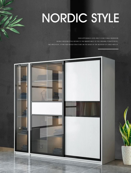 LULUS Tempered Glass Wardrobe (Price inclusive Delivery and Installation)