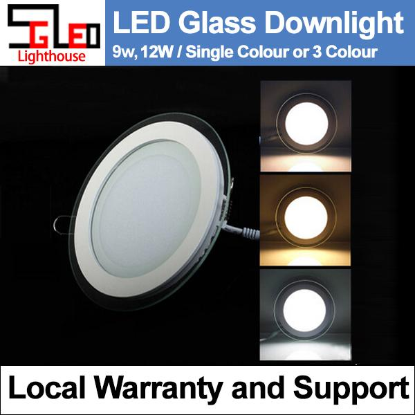 LED Glass Downlight 12w LED Ceiling Light (Tri-Colour)