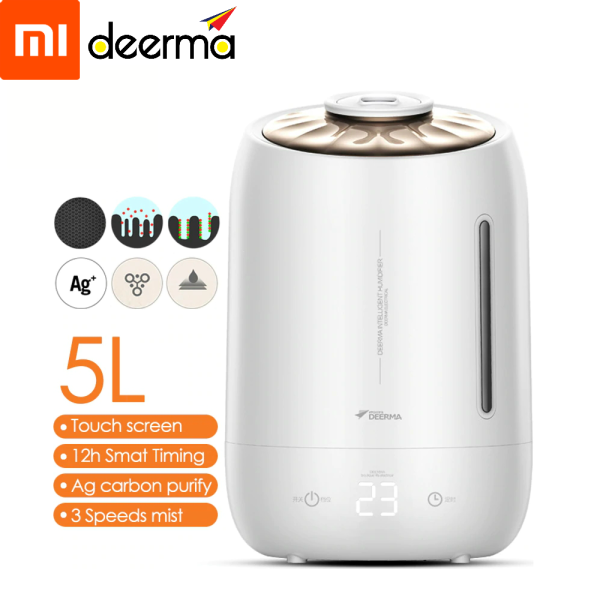 Xiaomi DEERMA F600/Household Humidifier Air Purifying Mist Maker/ULTRASONIC AIR HUMIDIFIER/5L LARGE CAPACITY/Touch Panel/AROMA DIFFUSER/ Singapore