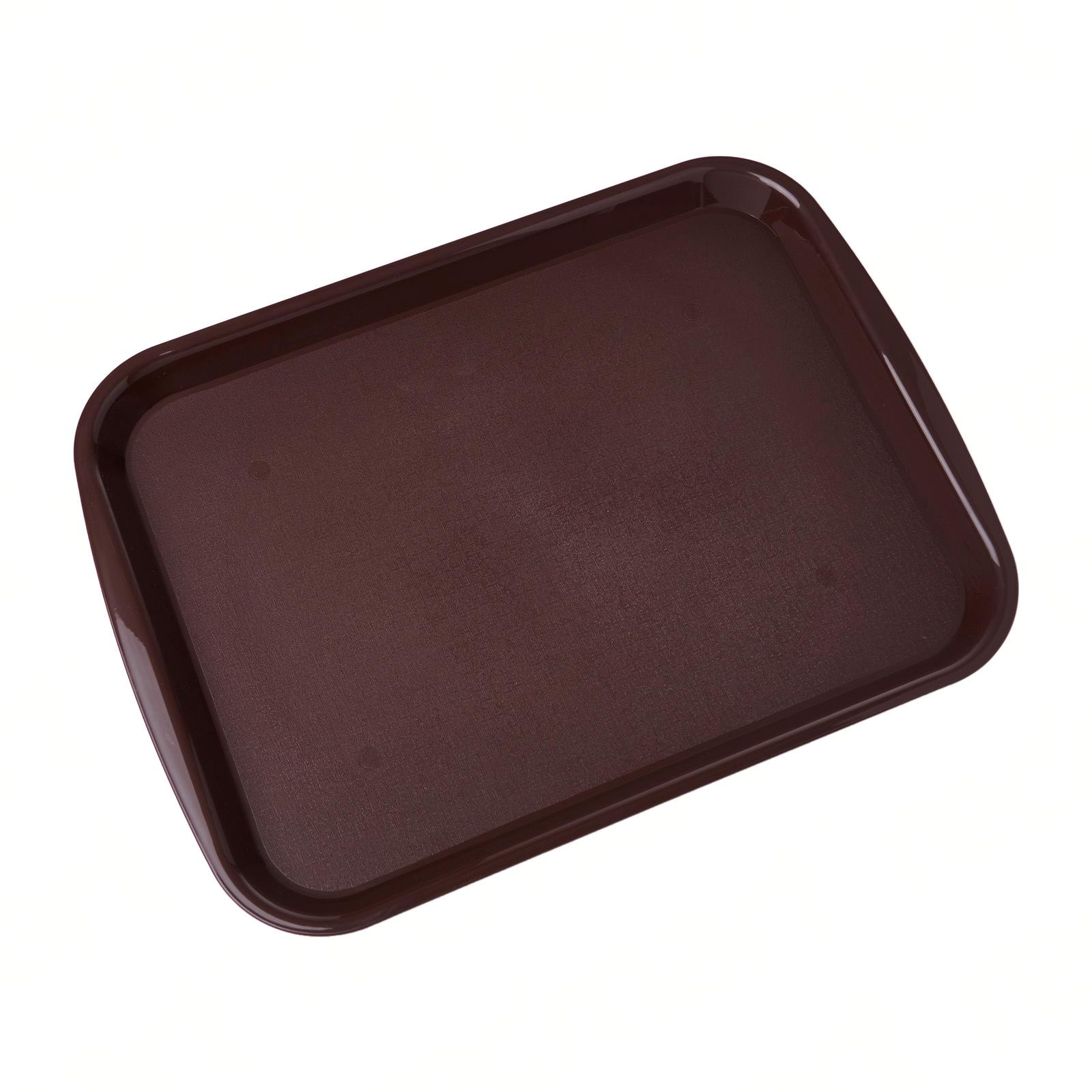 SUNNEX Fast Food Polypropylene Tray With Side Handles 36.5x27cm Brown