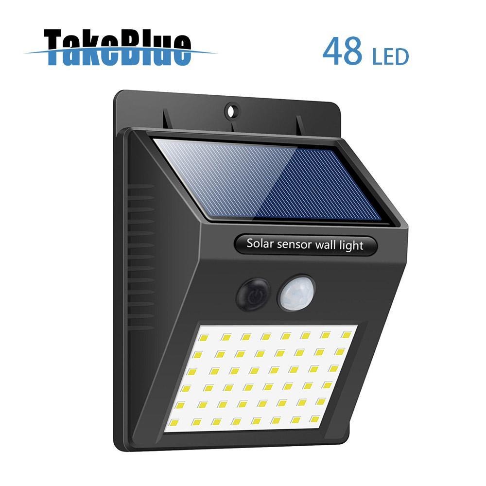 TakeBlue 3 Intelligent Mode Motion Sensor Solar Light , 48 LED Waterproof Solar Panel Outdoor Lamp