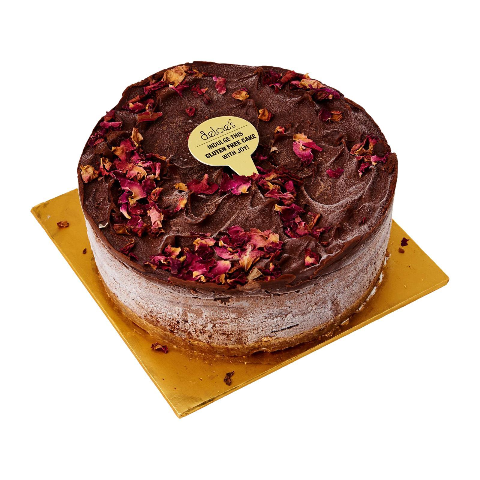 Delcie's Desserts and Cakes (6in round) Vegan Gluten-Free Nut-Free Diabetes Friendly Chocolate Cheesecake - Frozen