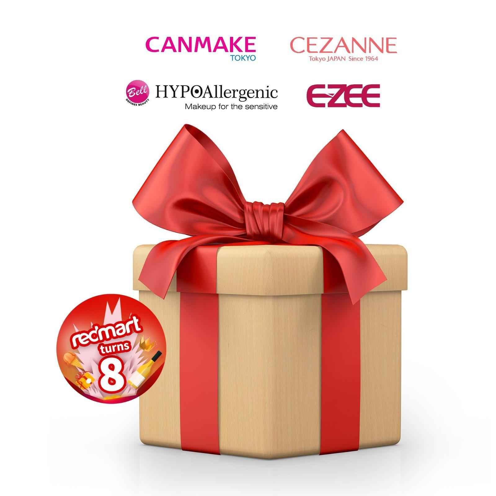 RedMart x Canmake Cezanne Bell and EZEE Beauty Surprise Box