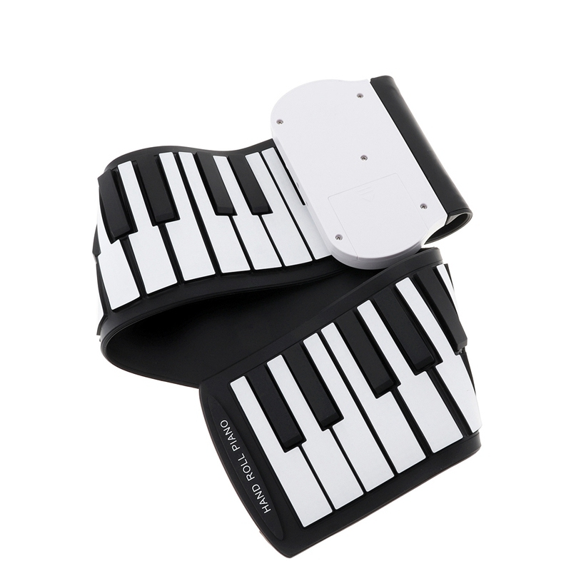37 Keys Silicon Flexible Hand Roll Up Piano Soft Portable Electronic Keyboard Organ Music Gift For Children Student