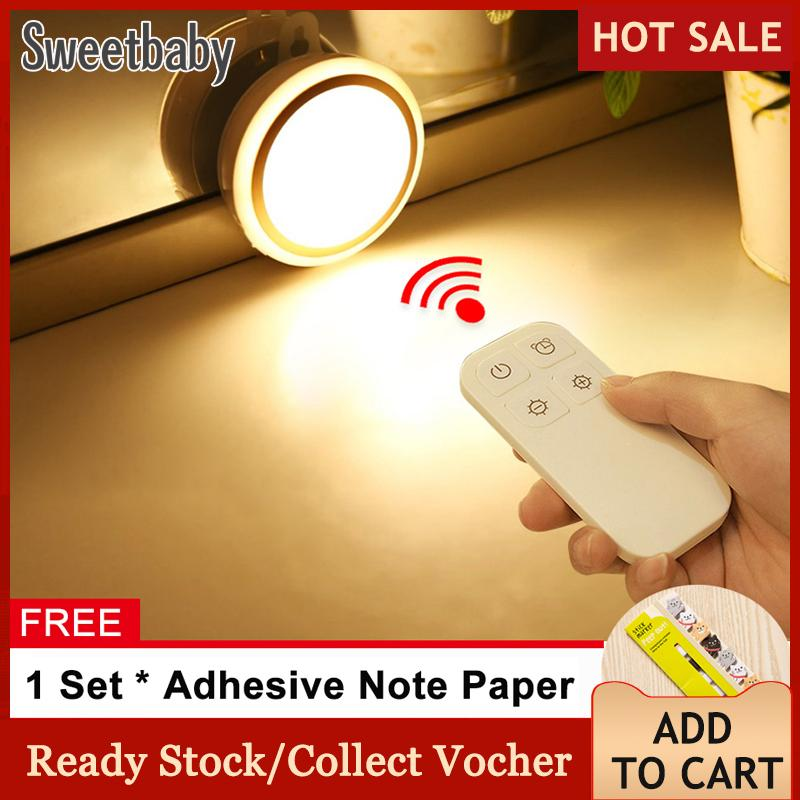 [free Gift] Wireless 5 Led Night Light Remote Control Lamp For Hallway Cabinet Closet Battery-Powered - Intl By Sweetbaby123.
