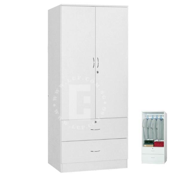 Pista 2 door Wardrobe (white colour)