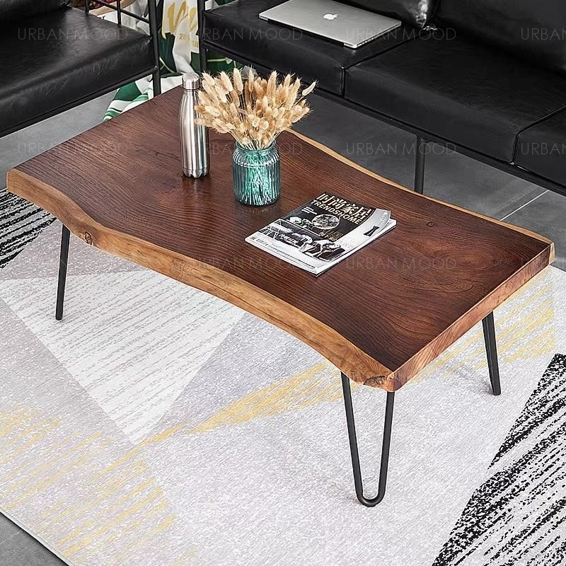 CAIUS Solid Raw Walnut Coffee Table