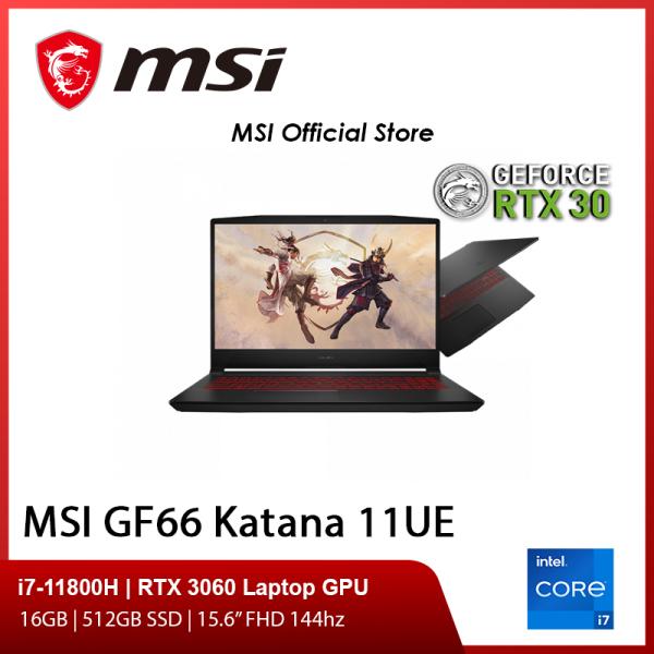 [Pre-Order] NEW GF66 11UE-252SG Gaming Laptop (i7-11800H/16GB/RTX 3060/15.6 FHD 144hz/W10/2Y)