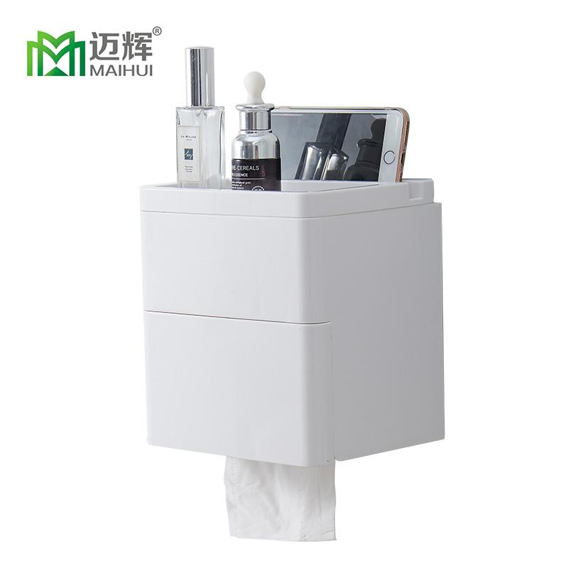 Provided Simple Bathroom Accessories Toilet Paper Holder White Lavatory Closestool Toilet Paper Dispenser Tissue Box Goods Of Every Description Are Available Paper Holders Home Improvement