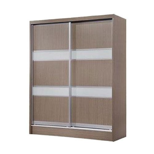 [Furniture Amart] Lorah 5 feet Sliding wardrobe in Brown panel (free assembly)