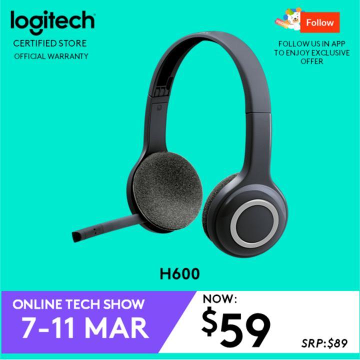63ecb4ab9da Logitech H600 Fold and Go Wireless Headset with 6 Hour Battery Life  #ITShowMar2019Promo Singapore