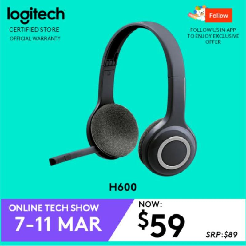 Logitech H600 Fold and Go Wireless Headset with 6 Hour Battery Life #ITShowMar2019Promo Singapore
