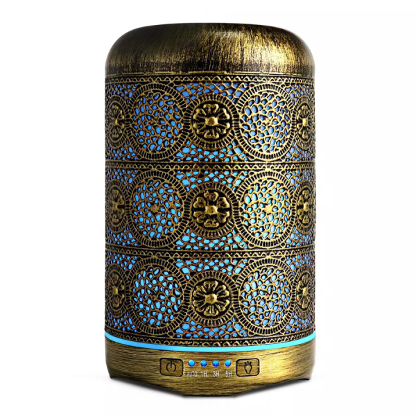 Ultrasonic Brushed Metal Essential Oil Diffuser 260ml