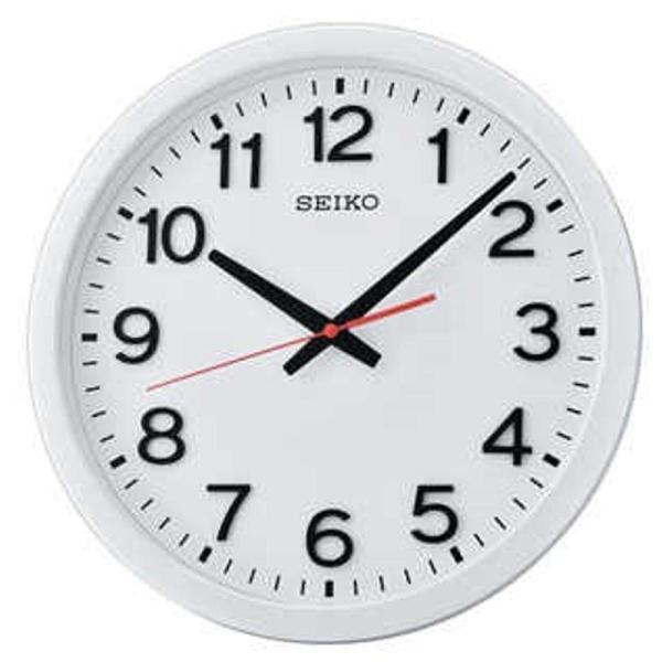 Seiko QXA732W QXA732WN 3D Meticulous Font Quiet Sweep Wall Clock