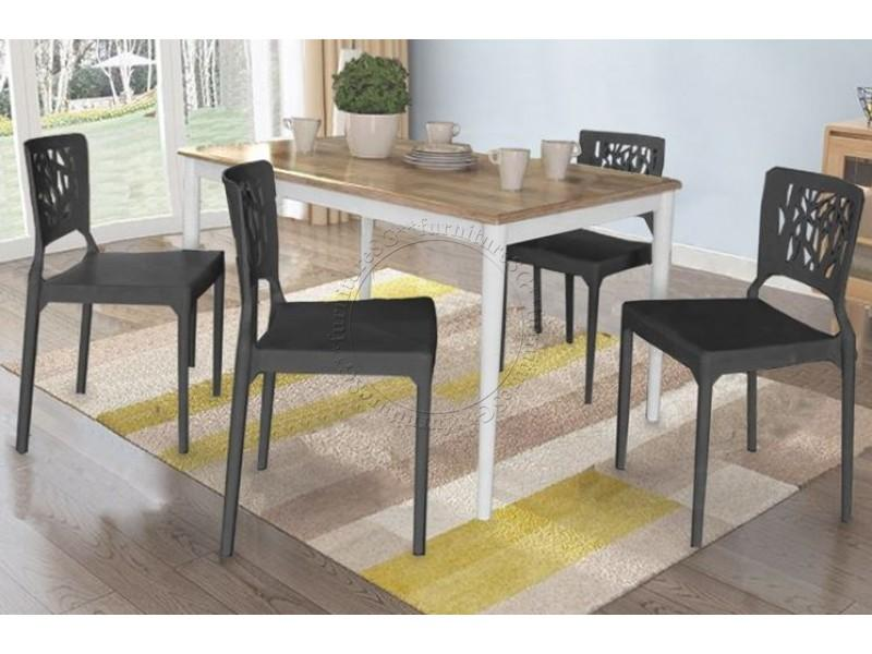 (FurnitureSG) 1+4 Dining Table Set [Free Delivery and Installation]
