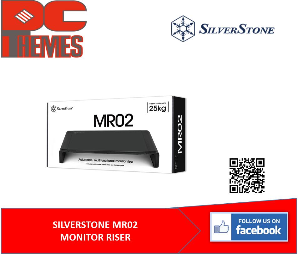 SILVERSTONE MR02 ADJUSTABLE, MULTIFUNCTIONAL MONITOR RISER